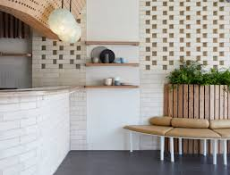 white brick and reclaimed eucalyptus wood fill sydney dessert