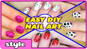 diy nail art without any tools top 10 nail art designs easy
