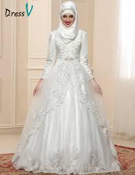 muslim wedding dresses 2017 luxury sleeves muslim wedding dresses high neck