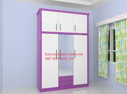 lemari pakaian anak ungu karya arta interior