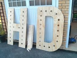 Metal Letters Home Decor Step By Step Guide To Making Your Own Giant Light Up Letters Own