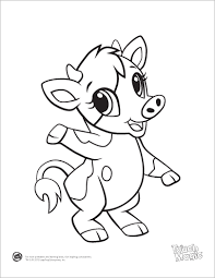 coloring pages of tools learning friends giraffe baby animal coloring printable from