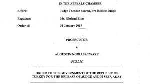 the mechanism orders turkey to release judge aydin sefa akay