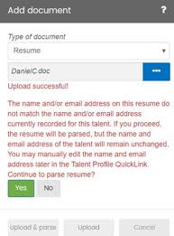 How To Parse Resume Talent Card Quicklinks U2013 Support Center