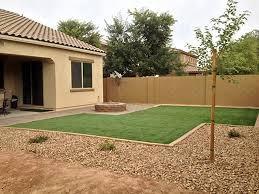 Artificial Grass Backyard by Artificial Lawn Vail Arizona Landscaping Backyard Landscaping
