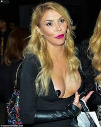 brandi house wives of beverly hills short hair cut real housewives brandi glanville shows off her nipple pasties at