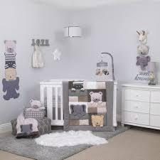 Nojo Crib Bedding Set Nojo Play Day Pals And Grey 4 Crib Bedding Set