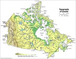 A Map Of Canada by Canada Topography Students Britannica Kids Homework Help
