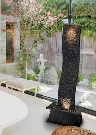 design zimmerbrunnen zimmerbrunnen welle black 170 feng shui schieferbrunnen wasserwand
