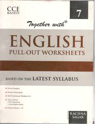 rachna sagar together with english pull out worksheet cce for