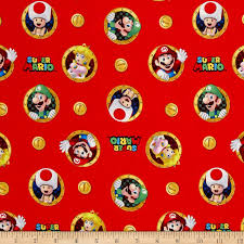 mario wrapping paper nintendo mario mario badges multi discount designer fabric