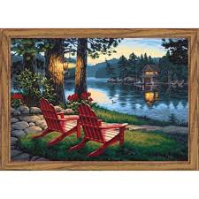paintworks adirondack evening paint by number kit
