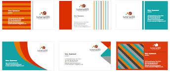 desain kartu nama yang bagus 100 contoh desain kartu nama keren siap pakai tutorial89