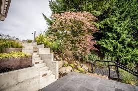 seattle 24x24 concrete pavers landscape contemporary with slope