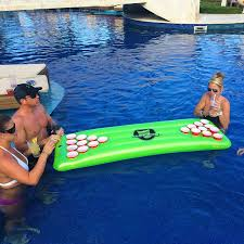 floating table for pool amazon com gopong pool pong table inflatable floating beer pong