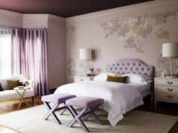 bedroom painted ceilings and crown molding with wall decals also