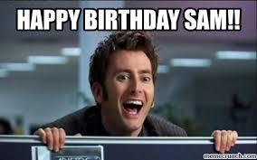 Sam Meme - birthday sam