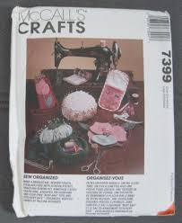 Armchair Sewing Caddy Pattern Mccalls 7399 Craft Pattern Organizer Roll Tote Eyeglass Armchair