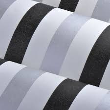 Black And White Striped Wallpaper by Wp32 Metallic Silver Black White Striped Wallpaper Wall Paper Roll
