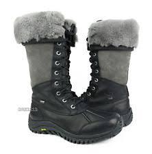 s ugg black leather ugg australia womens adirondack boots black 1001786 8 5 ebay