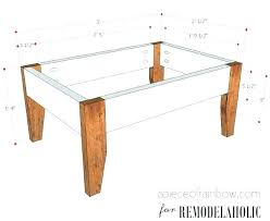 standard coffee table dimensions coffee table dimensions coffee table dimensions within designs 9