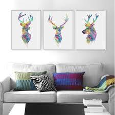 aliexpress com buy 3 piece modern abstract black deer head a4