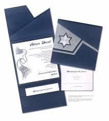 Pocket Invitation Cards Pocket Bar Mitzvah Invitation