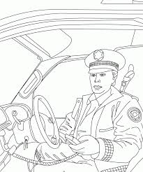 women police car coloring for kids is part of police coloring car