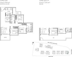 the glades condo floor plan 3br suite cc4 78 sqm 840 sqft