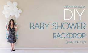 Cheap Photography Backdrops Diy Baby Shower Backdrop Youtube