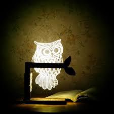 amazon com superniudb romantic home 3d owl shape led desk table