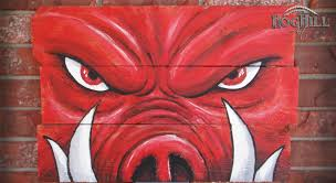Razorback Bathroom Official Arkansas Razorback Painting Tusks On