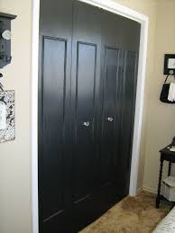 6 Panel Bifold Closet Doors by Updated Bi Fold Closet Doors Add Trim Paint And Change The Knobs