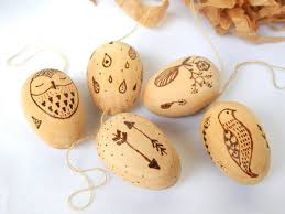 wooden easter eggs that open miniature wooden eggs pyrography wooden egg set wood