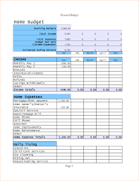 Home Budget Excel Template 6 Home Budget Templates Outline Templates