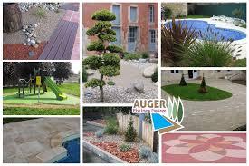 jardin paysager avec piscine auger