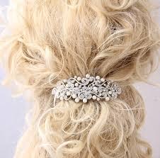 barrette hair pearl hair barrette bridal wedding hair accessory