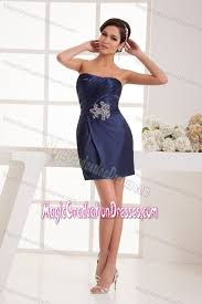 where to buy graduation dresses blue strapless ruched middle school graduation dresses in