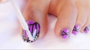 nail art nail artsigns for toes tribalsign toe pink and black