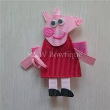 peppa pig ribbon peppa pig product r w bowtique hair accessories hair bow korker