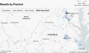 2000 Election Map New York Times Live Mapping Virginia Election U2013 Points Of Interest