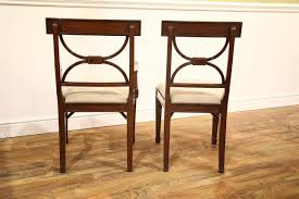Cross Back Dining Chairs Traditional Inlaid Cross Back Mahogany Dining Chairs