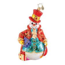 decor fancy fella snowman by christopher radko ornaments for