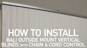 how to install bali vertical blinds with chain and cord control