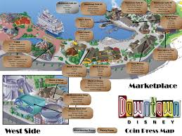 Map Of Downtown Disney Orlando by Coin Press Map And Listing Downtown Disney Theme Park Info