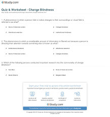 Inattentional Blindness Example Quiz U0026 Worksheet Change Blindness Study Com
