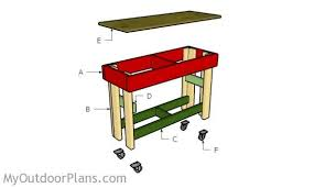Free Plans Building Wood Workbench by Small Workbench Plans Myoutdoorplans Free Woodworking Plans