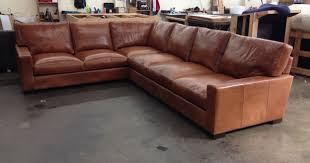 Chestnut Leather Sofa Braxton Leather L Sectional Sofa Studio Depth Glove Chestnut