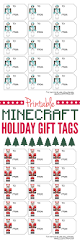 printable minecraft christmas gift tags ellie petrov