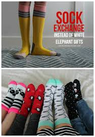 sock exchange instead of white elephant gifts white elephant